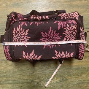 adidas Bags - Adidas Brown Pink Floral Duffle Gym Crossbody Bag